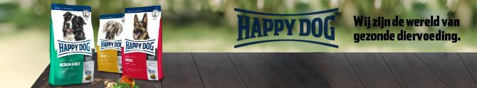 Happy Dog. Wij zijn de wereld van gezonde diervoeding.